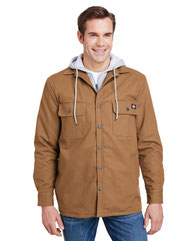 Dickies Men's Hooded Duck Quilted Shirt Jacket