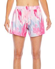 Team 365 Ladies' Tournament Sublimated Pink Swirl Short TT42W