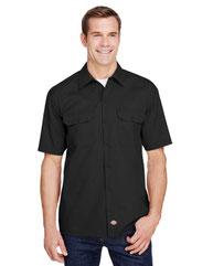 Dickies Men's FLEX Relaxed Fit Short-Sleeve Twill Work Shirt WS675