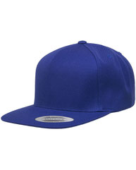 Yupoong Adult 5-Panel Structured Flat Visor Classic Snapback Cap YP5089