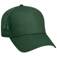 Cotton Twill Five Panel Low Profile Pro Style Mesh Back Caps