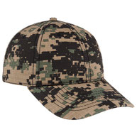 Digital Camouflage Cotton Twill Ripstop Low Profile Style Caps