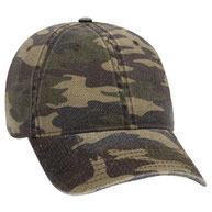 Camouflage Garment Washed Cotton Twill Low Profile Pro Style Cap