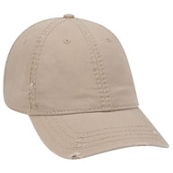 Distressed Superior Garment Washed Cotton Twill Low Profile Pro Style Caps