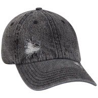 Distressed Denim Low Profile Snow Washed Cap