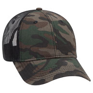 Cotton Twill Low Profile Camo Cap with Mesh Back