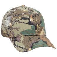 Camouflage Cotton Twill Low Profile Pro Style Mesh Back Caps
