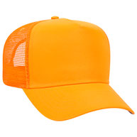 Neon Deluxe Polyester Twill Pro Style Mesh Back Caps