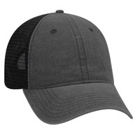 Garment Washed Pigment Dyed Superior Cotton Twill w/ Soft Polyester Mesh Back Trucker Hat