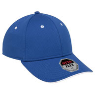 """""""Otto Flex"""" Cool Comfort Stretchable Polyester Cool Mesh Flipped Edge Visor Low Profile Style Caps (SM) (LXL)"""