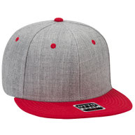Heather Wool Blend Flat Visor Pro Style Snapback Caps