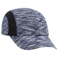 Polyester Jersey Knit with Mesh Inserts Running Cap