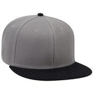 Wool Blend Square Flat Visor Pro Style Snapback Caps
