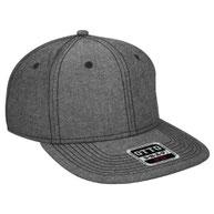 Chambray Square Flat Visor Pro Style Snapback Caps