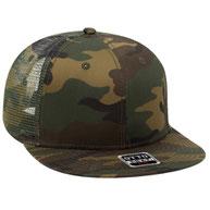 Camouflage Cotton Twill Flat Visor Pro Style Mesh Back Caps