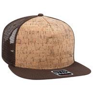 Cork Square Flat Visor Pro Style Mesh Back Snapback Caps