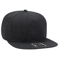 Heather Wool Blend Square Flat Visor Pro Style Snapvack Caps