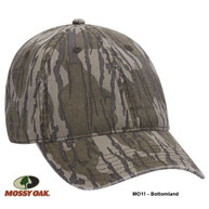 Mossy Oak Camouflage Garment Washed Superior Cotton Twill Six Panel Low Profile Cap (MO5 - Mountain Country)