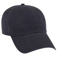 Garment Washed Thin Combed Cotton Low Profile Pre-Curved Visor Cap