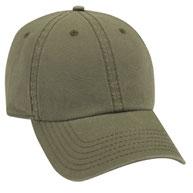 Garment Washed Cotton Canvas  Low Profile Pre-Curved Visor Cap