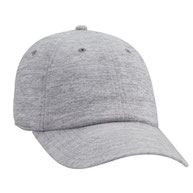 """""""OTTO COMFY FIT"""" Rayon Blend Jersey Knit Cotton Twill 6 Panel Low Profile Baseball Cap"""