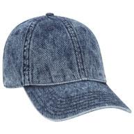 Denim Low Profile Snow Washed Cap