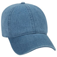 Washed Pigment Dyed Denim Low Profile Pro Style Cap
