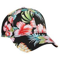 Hawaiian Pattern Cotton Twill Low Profile Pro Style Cap