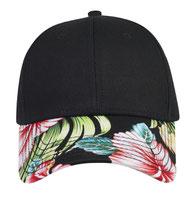 Superior Cotton Twill with Hawaiian Pattern Visor Low Profile Pro Style Cap