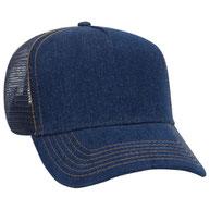 Denim Golf Style Mesh Back Caps