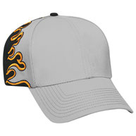 Cotton Twill Flame Pattern Low Profile Pro Style Caps