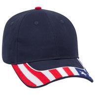 United States Flag Visor Brushed Cotton Twill Low Profile Pro Style Caps