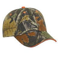 Camouflage Brushed Cotton Twill Sandwich Visor Low Profile Pro Style Caps