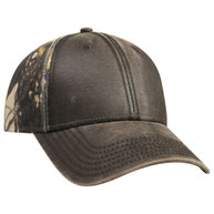 Camouflage Garment Washed Cotton Twill Heavy Washed Wax Coated Low Profile Pro Style Caps