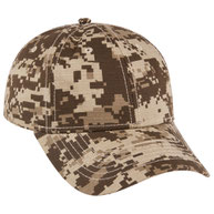 Digital Camouflage Cotton Ripstop Low Profile Style Caps
