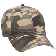 Cotton Twill Low Profile Camo Cap