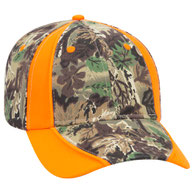 Camouflage Piping Design Cotton Twill Low Profile Pro Style Caps