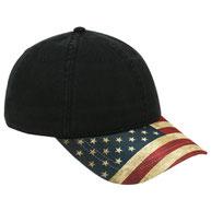 United States Flag Visor Cotton Twill Low Profile Style Caps