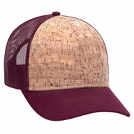 Cork 6 Panel Low Profile Mesh Back Cap Structured Firm front Panel Low-Fitting