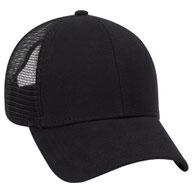 Jersey Knit Low Profile Pro Style Mesh Back Caps