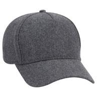 5 Panel Melton Wool Blend Low Profile Cap