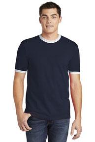 American Apparel  ®  Fine Jersey Ringer T-Shirt. 2410W