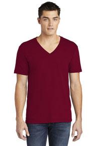 American Apparel  ®  Fine Jersey V-Neck T-Shirt. 2456W