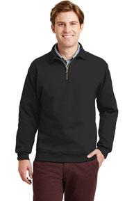 JERZEES ®  SUPER SWEATS ®  NuBlend ®  - 1/4-Zip Sweatshirt with Cadet Collar.  4528M