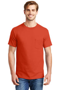 Hanes ®  Beefy-T ®  - 100% Cotton T-Shirt with Pocket. 5190