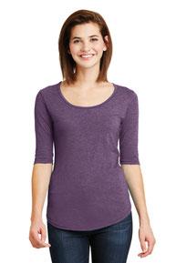Anvil ®  Ladies Tri-Blend Deep Scoop Neck 1/2-Sleeve Tee. 6756L