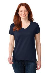 Anvil ®  Ladies 100% Combed Ring Spun Cotton V-Neck T-Shirt. 88VL
