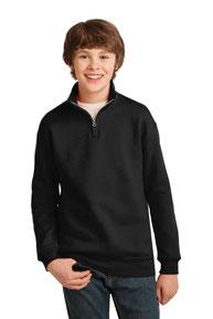 JERZEES ®  Youth NuBlend ®  1/4-Zip Cadet Collar Sweatshirt. 995Y