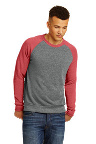 DISCONTINUED  Alternative Champ Colorblock Eco ™ -Fleece Sweatshirt. AA32022