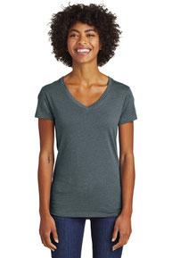 Alternative Women's Runaway Blended Jersey V-Neck Tee. AA6046